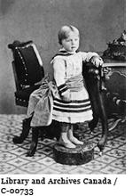 William Lyon Mackenzie King possibly at the age of two, circa 1876