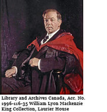 Portrait of The Right Honourable William Lyon Mackenzie King, 1927