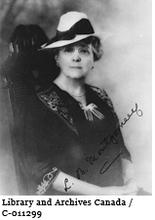 "Lucy Maud Montgomery author of ""Anne of Green Gables"" circa 1920 –1930"
