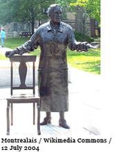 Statue of Emily Murphy by Barbara Patterson, Parliament Hill, Ottawa.