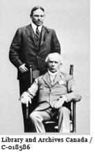 Image of Sir Wilfrid Laurier with William Lyon Mackenzie King, August 1912