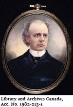 Portrait of Sir Wilfrid Laurier (1902, watercolour on ivory by Gerald Sinclair Hayward)